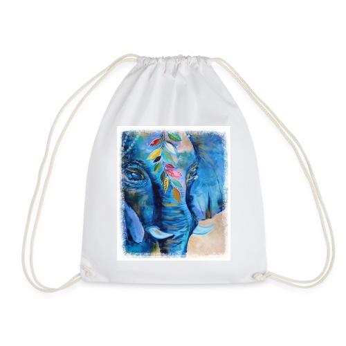 Elefant, Glücksbringer, Indien - Turnbeutel