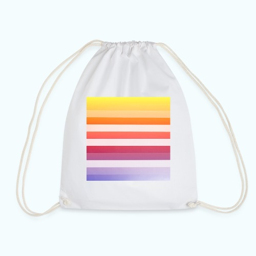 Rainbow Abstract Acrylic Painting - Drawstring Bag