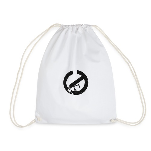 Shirt Ghost Graphic Black and White png - Drawstring Bag