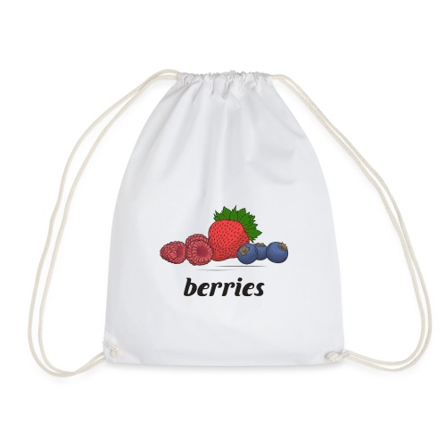 berries, fruit, blooms and berries, lingonberry - Drawstring Bag