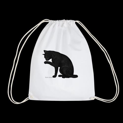 chat noir élégant - Sac de sport léger