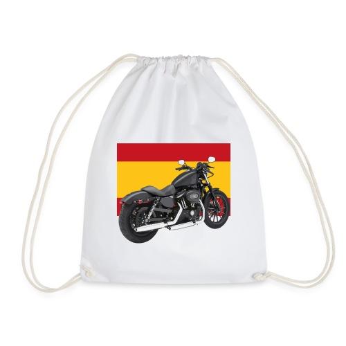 moto con la bandera de España - Mochila saco