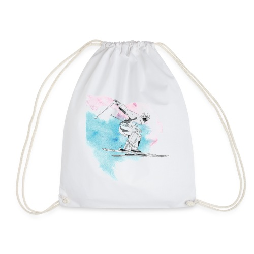 Skiing - Drawstring Bag