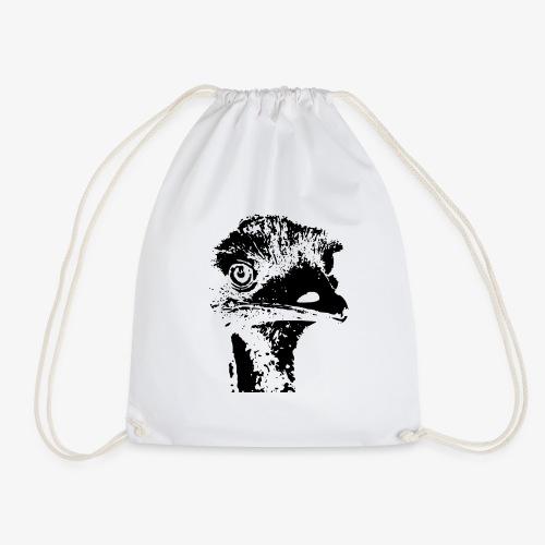 Emu Outline Black - Drawstring Bag