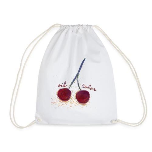 oilcolor - 'distorted cherry' - Drawstring Bag