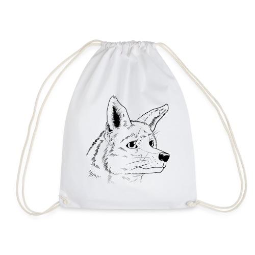 Strichzeichnung Fuchs - Turnbeutel