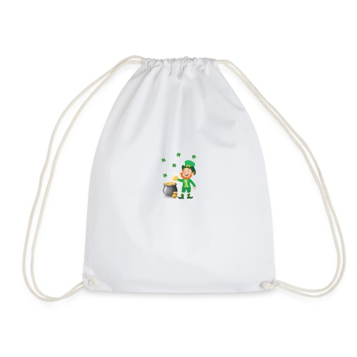 Irish Leprechaun With Pot Of Gold St. Patricks Day - Drawstring Bag