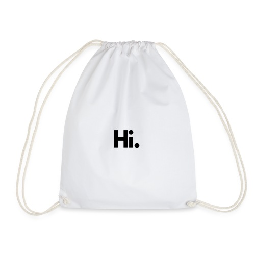 Social Fashion - 'Hi' - Drawstring Bag