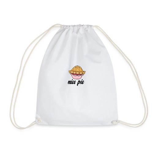 nice pie - Drawstring Bag