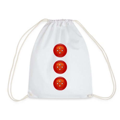 3 rote Knöpfe Knopf Buttons modische Accessoires - Drawstring Bag
