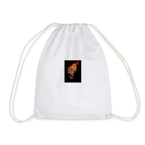 Neon tiger hat - Drawstring Bag