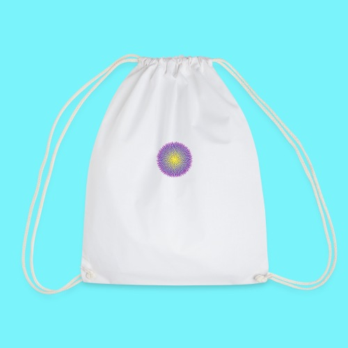 Fibonacci based image with radiating elements - Drawstring Bag
