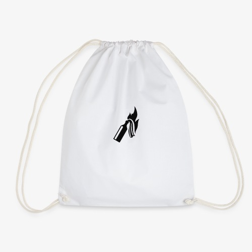 Black Molotov Cocktail - Drawstring Bag