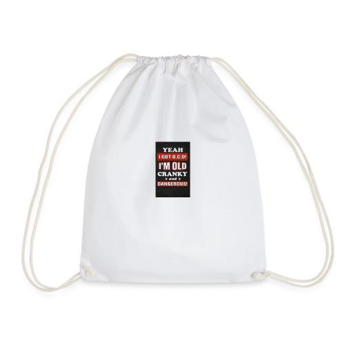 Old n cranky - Drawstring Bag