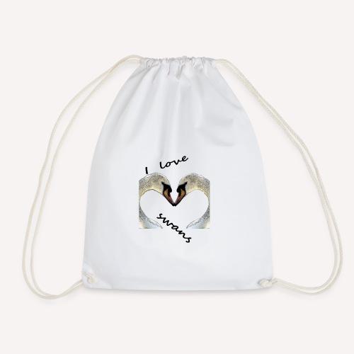 I love swans - Turnbeutel