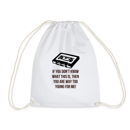 Retro Cassette - Drawstring Bag