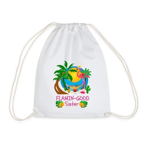 Flamin-Good Fabulous Flamingo Sister Gifts - Drawstring Bag