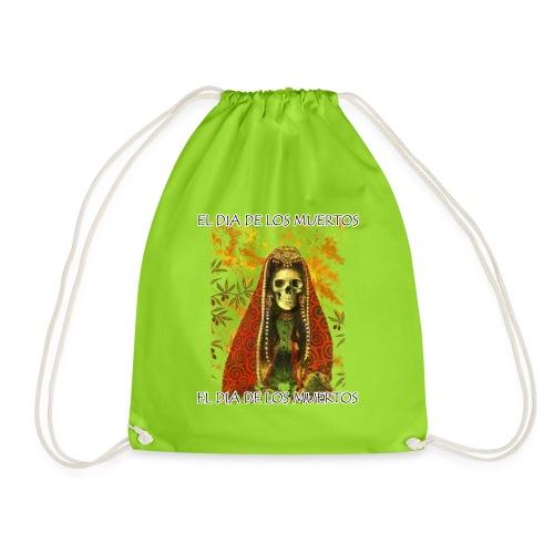 El Dia De Los Muertos Skeleton Design - Drawstring Bag