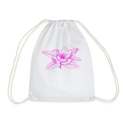 Camisetas y accesorios de flor color rosada - Mochila saco