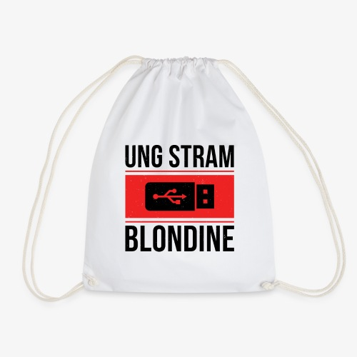 Ung Stram Blondine - Sort - Sportstaske