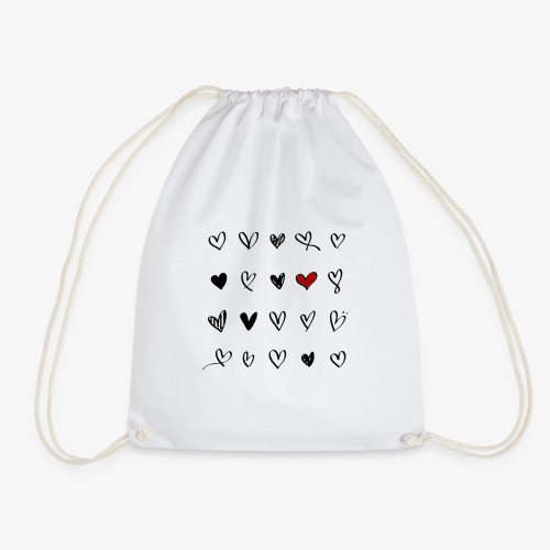 valentines hearts - Sac de sport léger