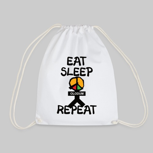 eat sleep olodum repeat - Turnbeutel