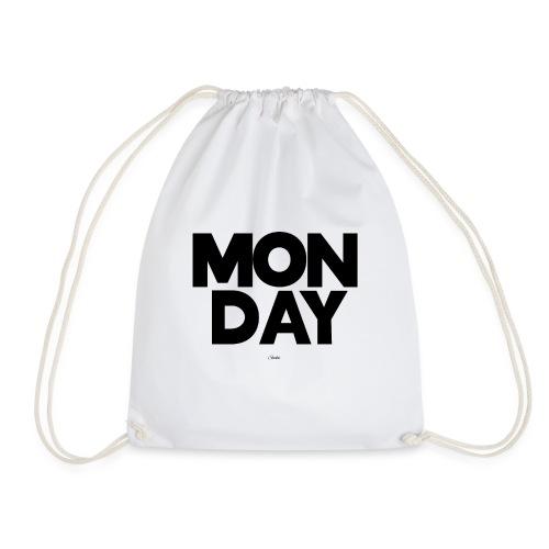 Monday Montag sucks ist scheisse T-Shirt hasse - Turnbeutel
