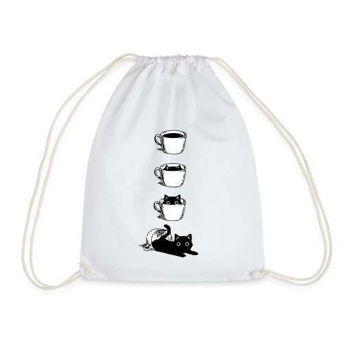 Süsse Katze in Kaffee Tasse - Turnbeutel