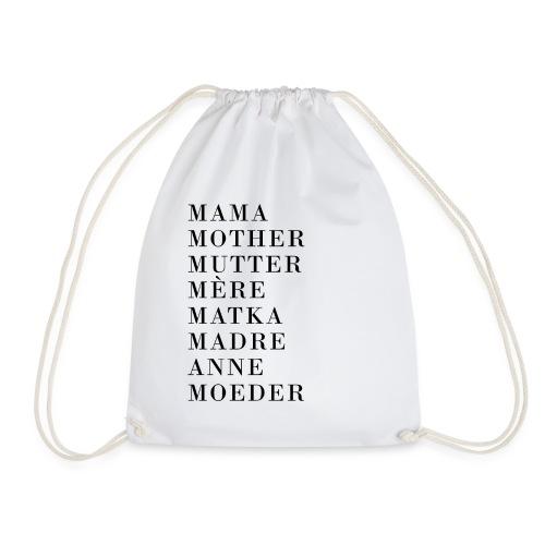 Mutter International in verschiedenen Sprachen - Turnbeutel