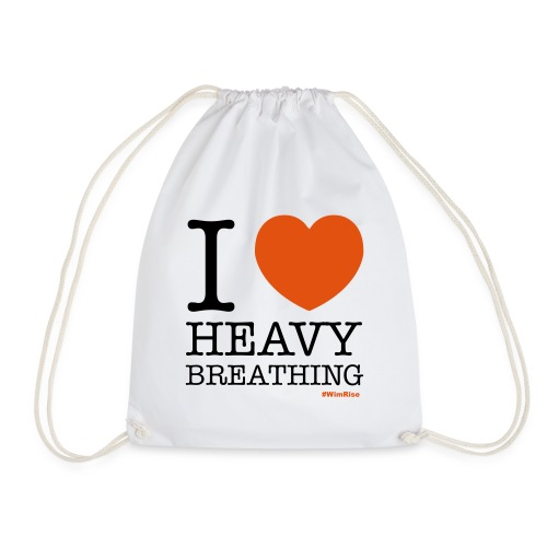 I ♥ Heavy Breathing - Drawstring Bag