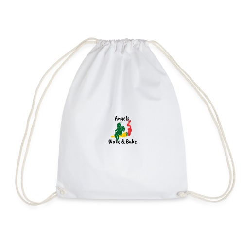 Angels Wake and Bake - Drawstring Bag