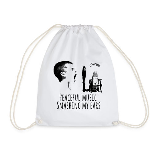 Shrill Peaceful Music Tshirt - Sac de sport léger
