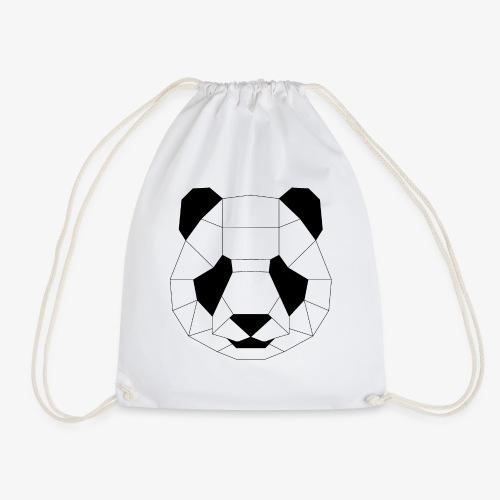 Panda schwarz - Turnbeutel