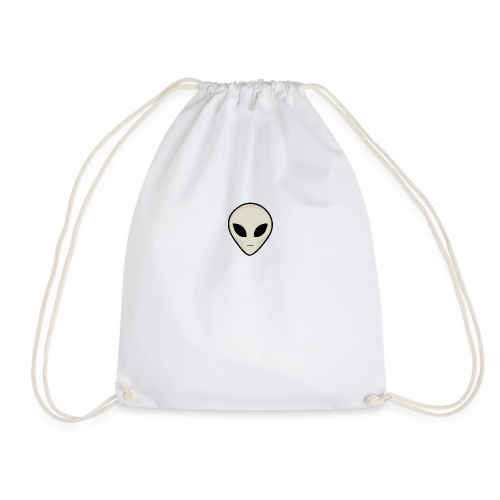 UFO Alien Head - Drawstring Bag