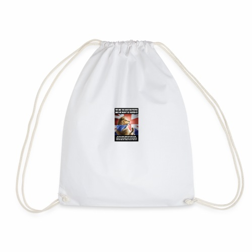 we are british people - Drawstring Bag