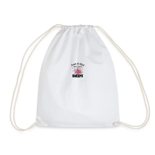 Just A Girl Who Loves Sheeps - Drawstring Bag
