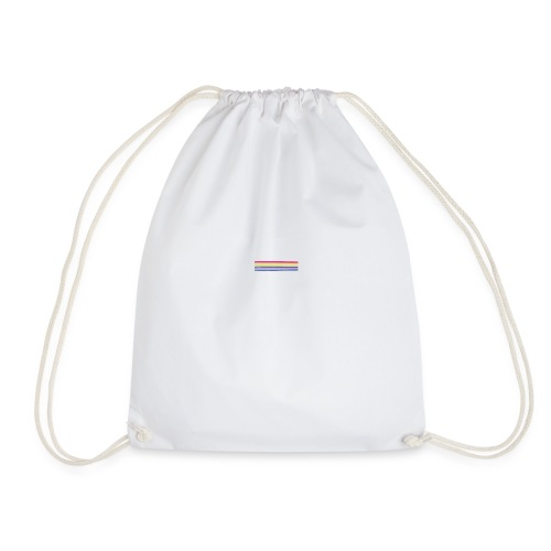 Colored lines - Drawstring Bag