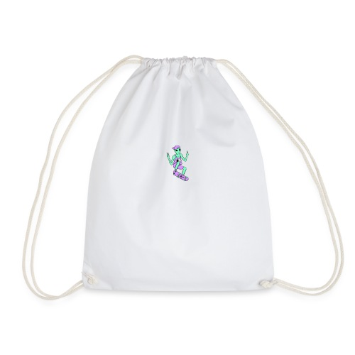 Skater Alien - Drawstring Bag