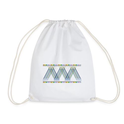 geometria astratta - Drawstring Bag