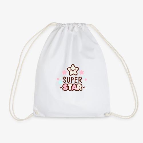 Super Child / Super Star - T-Shirt Print - Turnbeutel