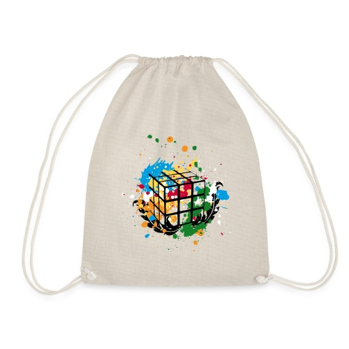 Rubik's Cube Colourful Splatters - Gymnastikpåse