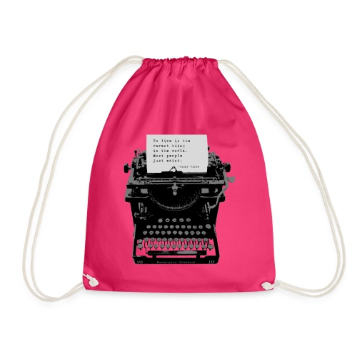 Oscar Wilde Quote on Old Remington 10 Typewriter - Drawstring Bag
