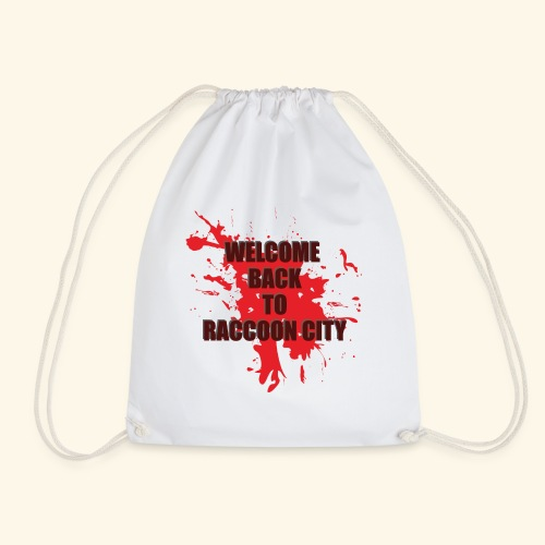 Welcome Back to Raccoon City TEXT 01 - Drawstring Bag