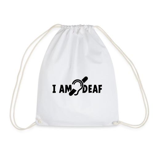 I am deaf. Ik hoor je niet. Doven, slechthorend - Gymtas