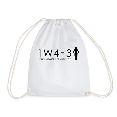 1W4 3L = Ein Waldviertler ist drei Leute - Turnbeutel