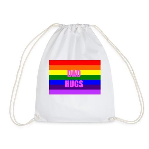 Pride Dad Hugs T-Shirt - Drawstring Bag