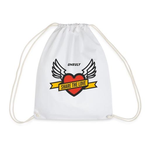 ShareTheLove-Black - Drawstring Bag