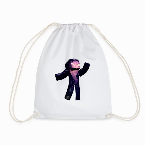 Skin Rising Pose with Shaykh Gaming on Back - Drawstring Bag