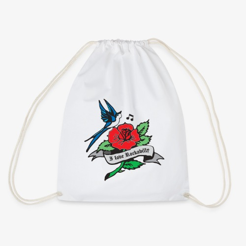 rockabilly tattoo retro patjila - Drawstring Bag