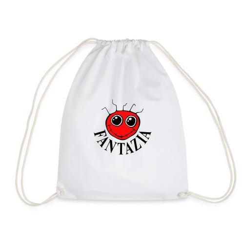 2 Colour Fantazia Smiley Face - Drawstring Bag